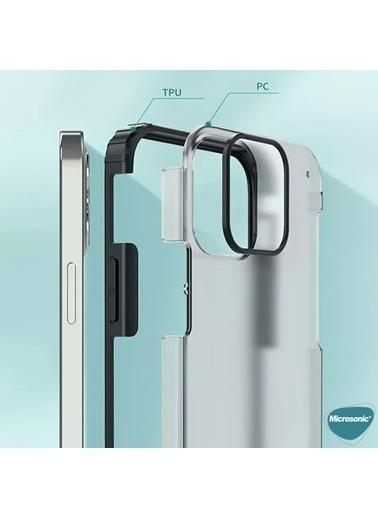 Microsonic Apple iPhone 12 Pro Max Kılıf Frosted Frame Siyah
